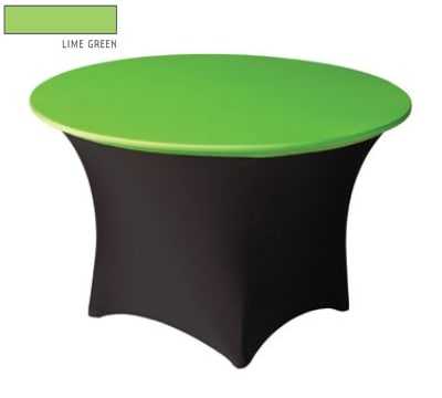 "Snap Drape CC48R LMGRN Contour Cocktail Table Cover Fits 48"" Round Table, Lime Green"
