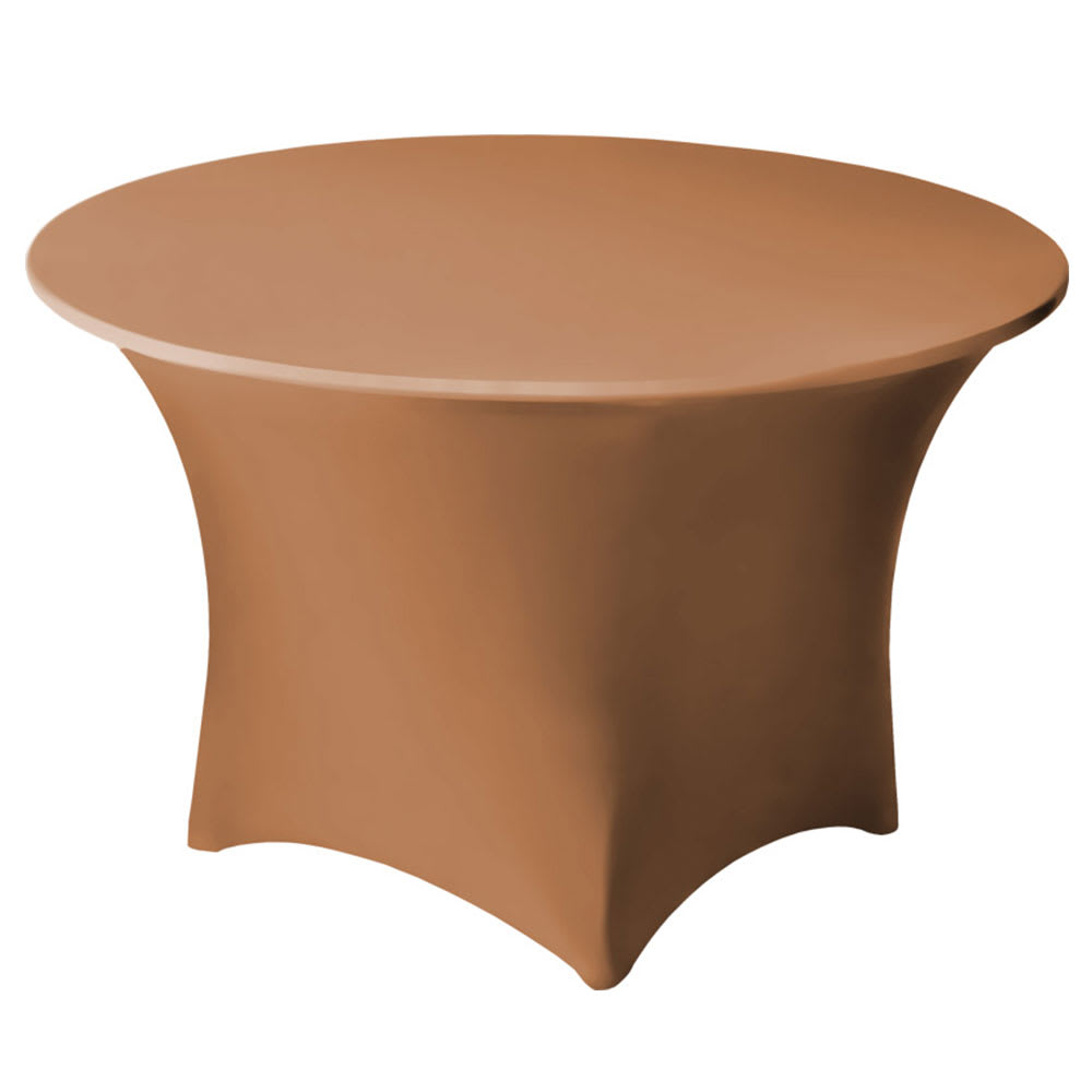 "Snap Drape CC60R SDLWD Contour Cocktail Table Cover Fits 60"" Round Table, Sandlewood"