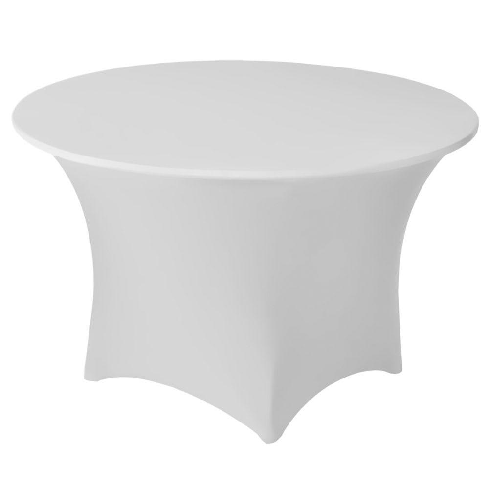 "Snap Drape CC60R WHT Contour Cocktail Table Cover Fits 60"" Round Table, White"