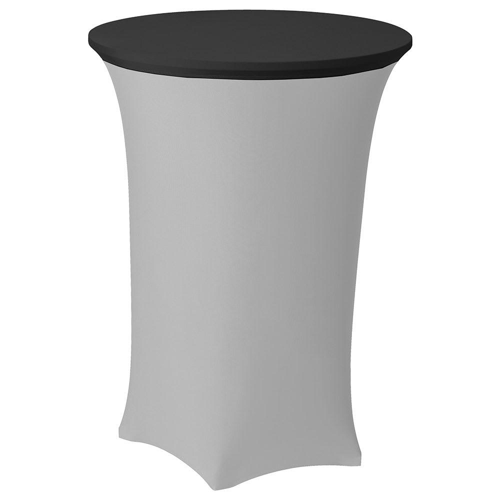"""Snap Drape CCAP30R BLK Contour Table Cover Cap for 30"""" Round Table, Poly/Spandex, Black"""