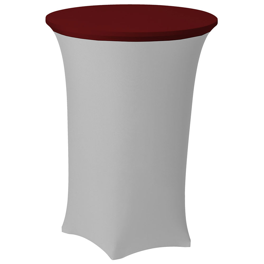 "Snap Drape CCAP30R CRIM Contour Table Cover Cap for 30"" Round Table, Poly/Spandex, Crimson"