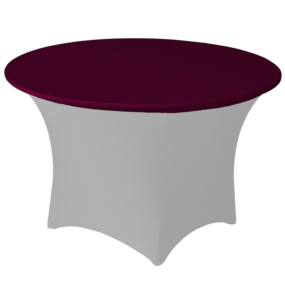 """Snap Drape CCAP60R BGDY Contour Table Cover Cap for 60"""" Round Table, Poly/Spandex, Burgundy"""