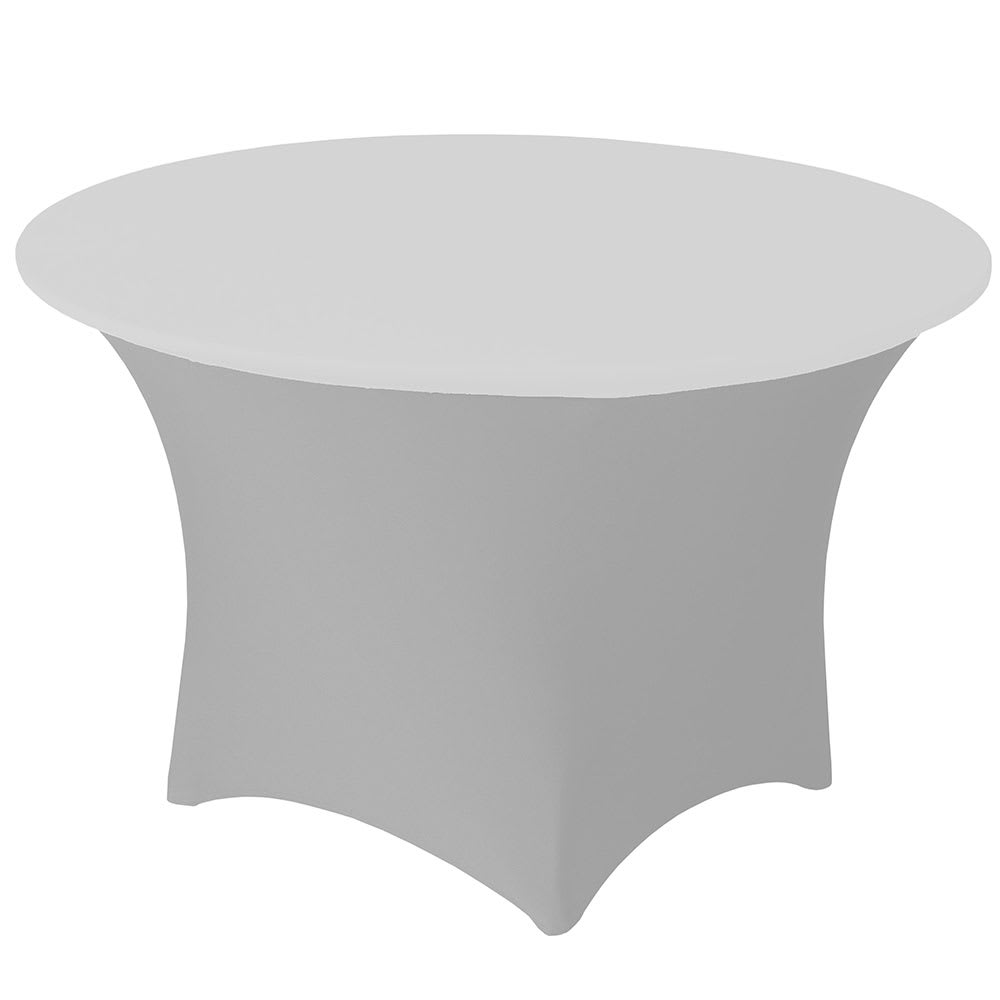 "Snap Drape CCAP60R WHT Contour Table Cover Cap for 60"" Round Table, Poly/Spandex, White"