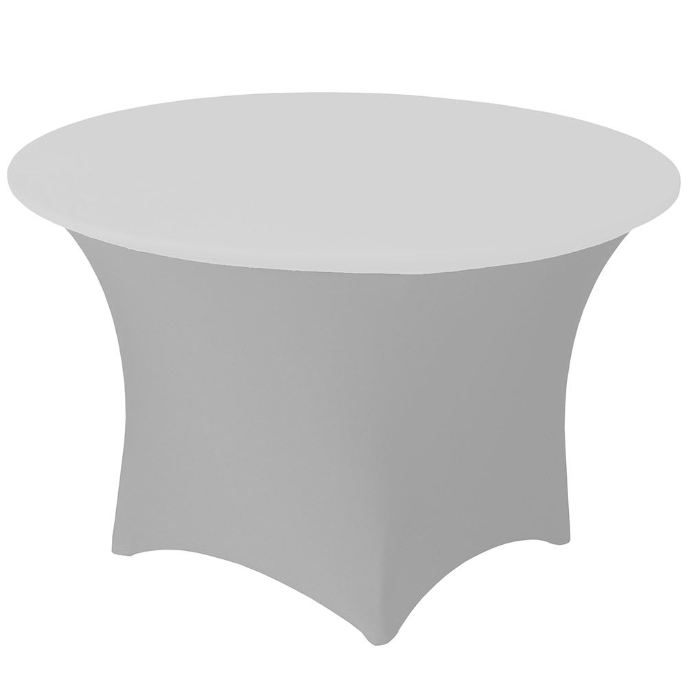 "Snap Drape CCAP72R WHT Contour Table Cover Cap for 72"" Round Table, Poly/Spandex, White"