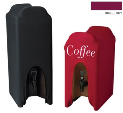 Snap Drape CCBDC10 BGDY Contour 10-Gallon Beverage Dispenser Cover, Snug Fit, Burgundy