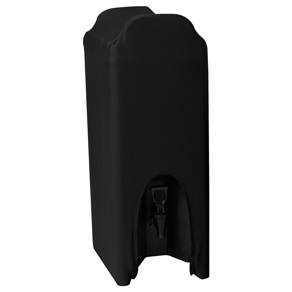 Snap Drape CCBDC50 5-Gallon Beverage Dispenser Cover - Polyester/Spandex, Black