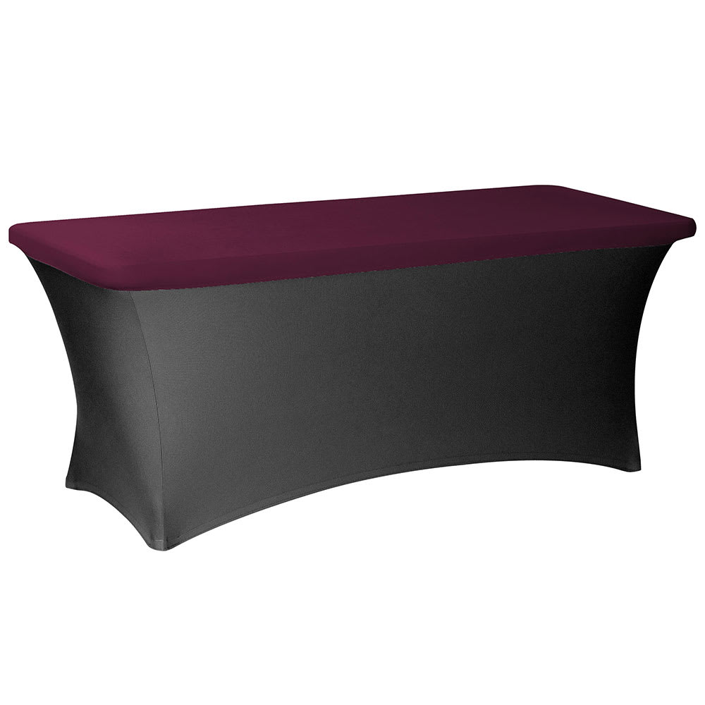 "Snap Drape CCCAP830 BGDY Contour Table Cover Cap Fits 8 ft x 30"" Tables, Burgundy"