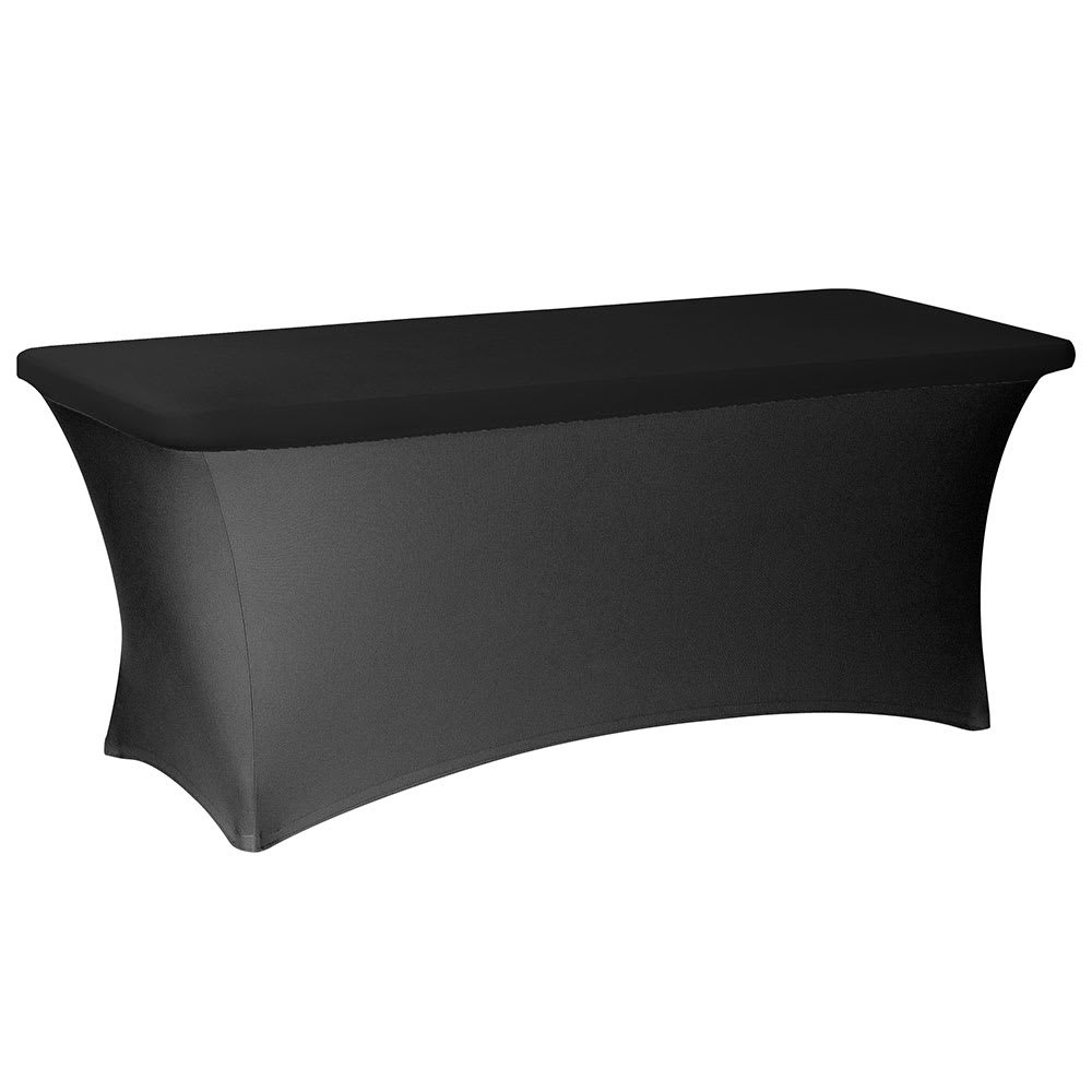 "Snap Drape CCCAP830 BLK Contour Table Cover Cap Fits 8-ft x 30"" Tables, Black"
