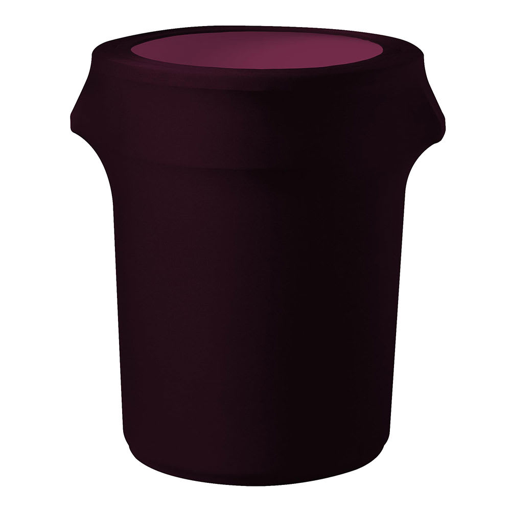 Snap Drape CCTCC55 BGDY Burgundy, Round Fitted Trash Can Cover, 55 gal