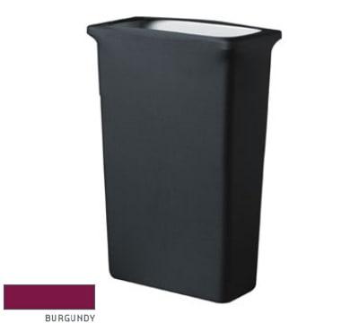 Snap Drape CCTCCSJ BGDY Slim Jim Trash Can Cover, Snug Fit, Poly/Spandex, Burgundy