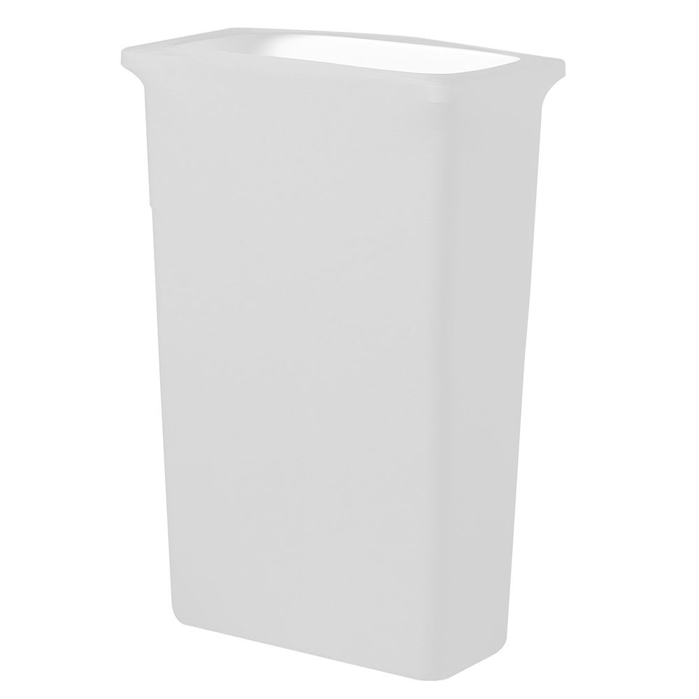 Snap Drape TCCCCSJ16 White, Rectangle Fitted Trash Can Cover, 16 gal
