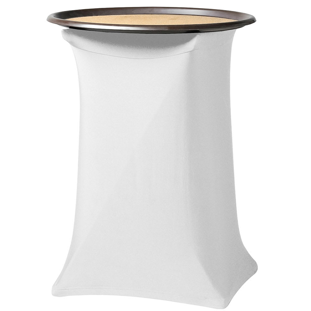 """Snap Drape CCTRAY31 WHT Contour Tray Stand Cover Fits Over 30"""" High, White"""