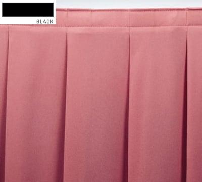 Snap Drape ENC2V1329 BLK Encore 13-ft Table Skirt, Accordion Pleat, Velcro Attachment, Black