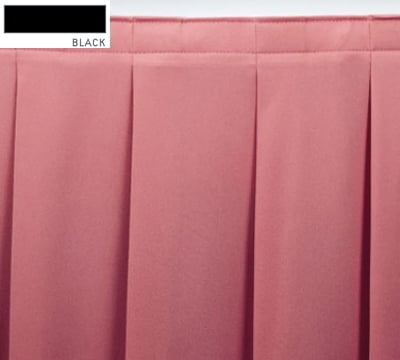 Snap Drape ENC2V21629 BLK Encore 21.5-ft Table Skirt, Accordion Pleat, Velcro Attachment, Black