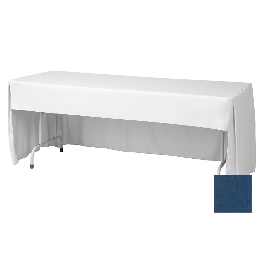 "Snap Drape FPFSMAR630CC ROY Marquis Fitted Table Cover Set, Conference-Cut, 6-ft x 30"", Royal"