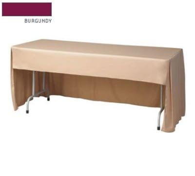 """Snap Drape FPFSRIV630CC BUR Riviera Fitted Table Cover Set, Conference-Cut, 6-ft x 30"""", Burgundy"""