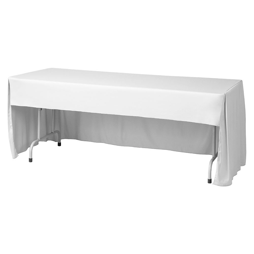 "Snap Drape FPFSWYN618CC WHT Wyndham Fitted Table Cover Set, Conference-Cut, 6-ft x 18"", White"