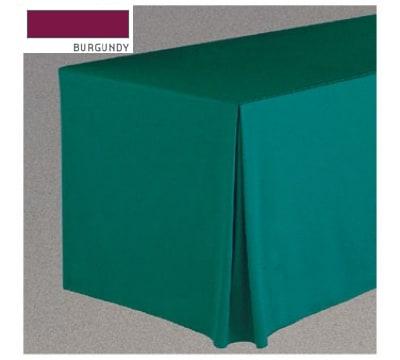 "Snap Drape FPFSWYN63030 BUR Wyndham Fitted Table Cover Set, Flat-Panel, 6-ft x 30"", Burgundy"