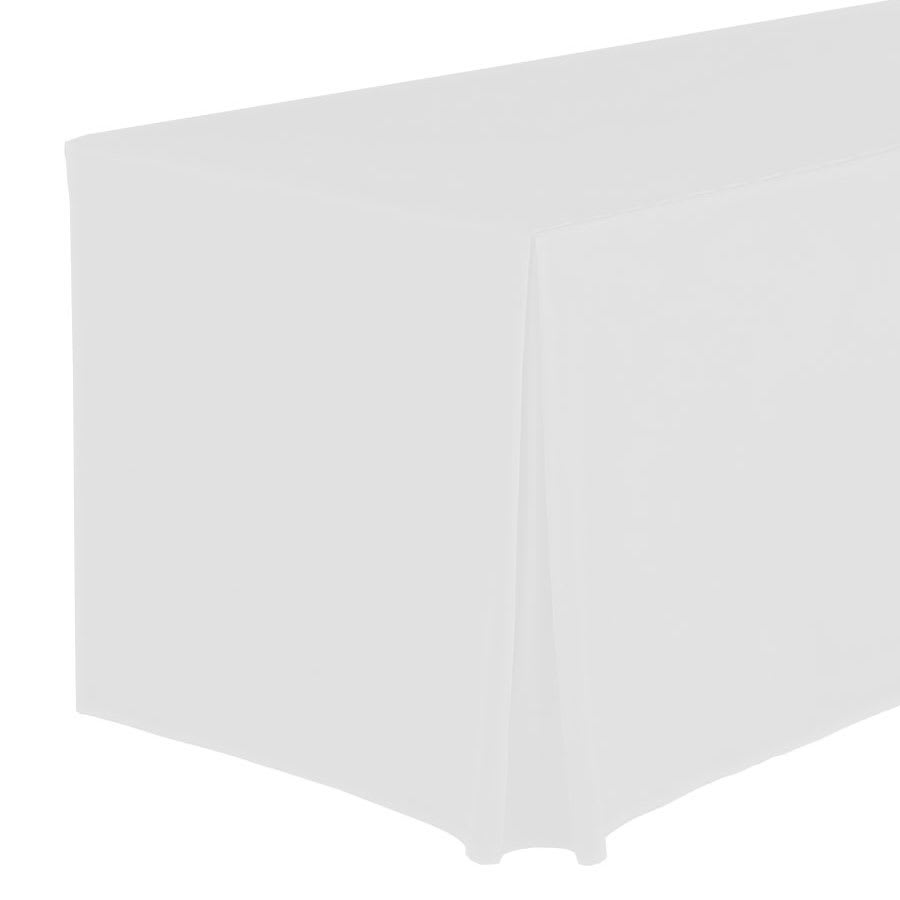"Snap Drape FPFSWYN83030 WHT Wyndham Fitted Table Cover Set, Flat-Panel, 8-ft x 30"", White"