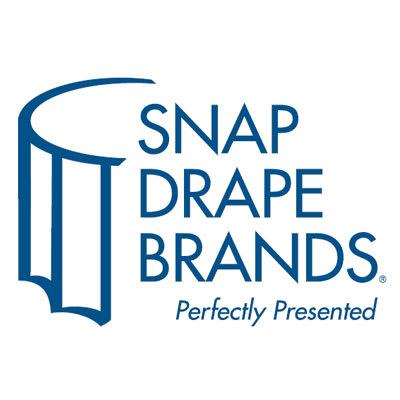 Snap Drape MAR1V21629 WHT Marquis 21.5-ft Table Skirt, Shirred, Velcro Attachment, White