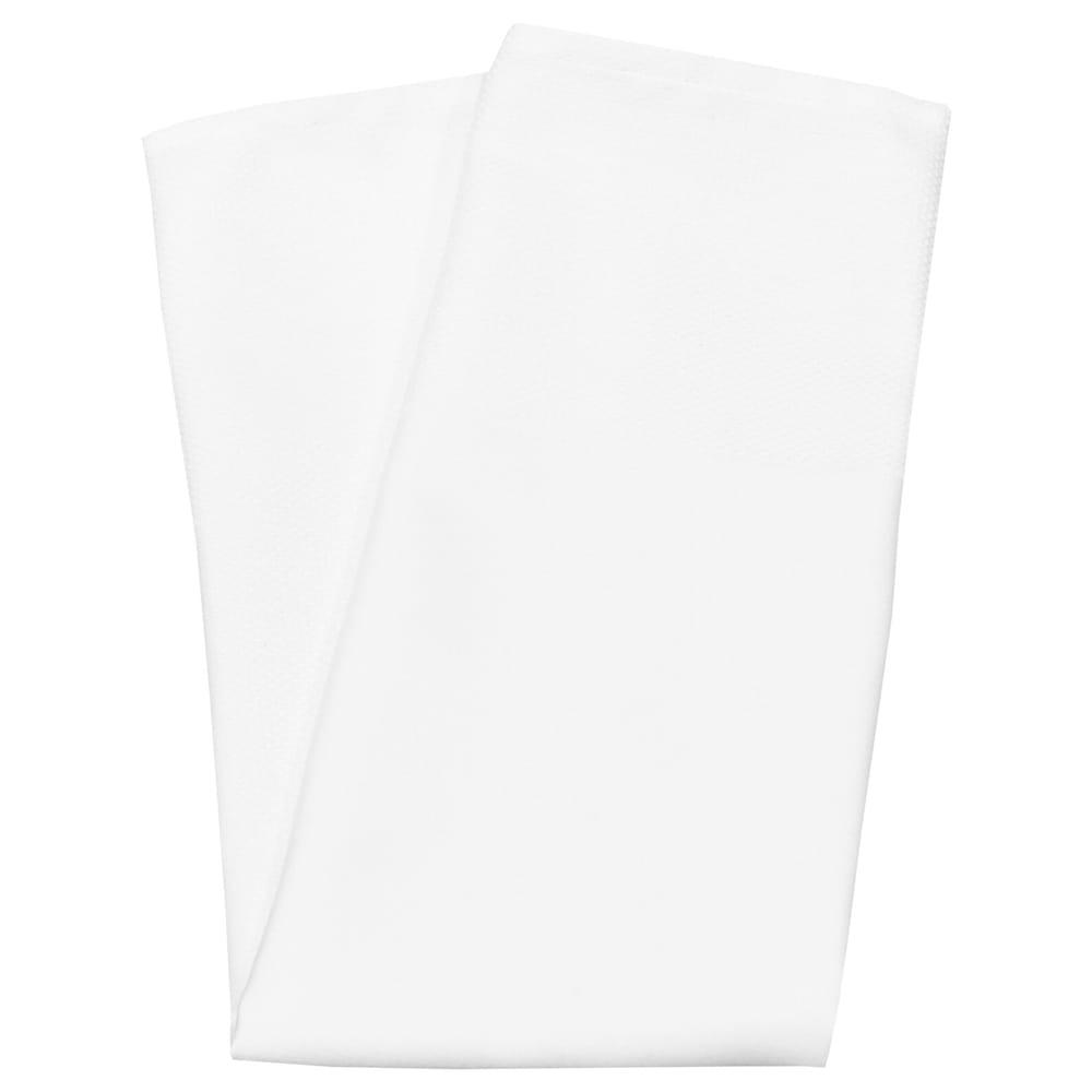 """Snap Drape NAPBESB22HWHT 22"""" Square Hemmed Banded Napkin - Polyester, White"""
