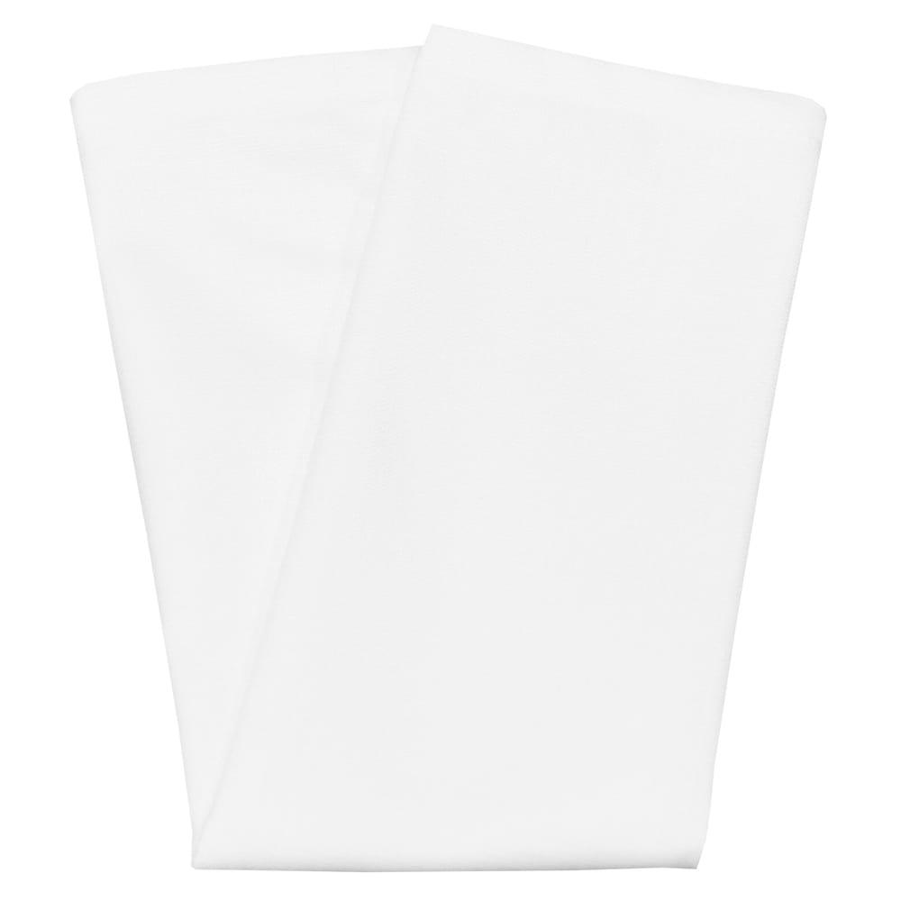 "Snap Drape NAPCL20MWHT 20"" Square Hemmed Napkin - Polyester, White"