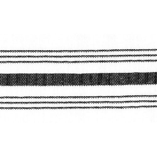 "Snap Drape NAPFSBLK Farm Stripe Napkin - 18x22"" Black/White"