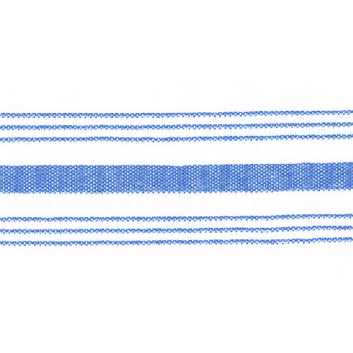 "Snap Drape NAPFSBLU Farm Stripe Napkin - 18x22"" Blue/White"