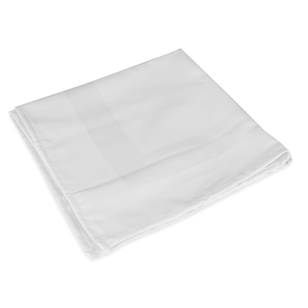"Snap Drape NAPSB22HWHT 22"" Square Hemmed Satin Band Napkin - Polyester, White"