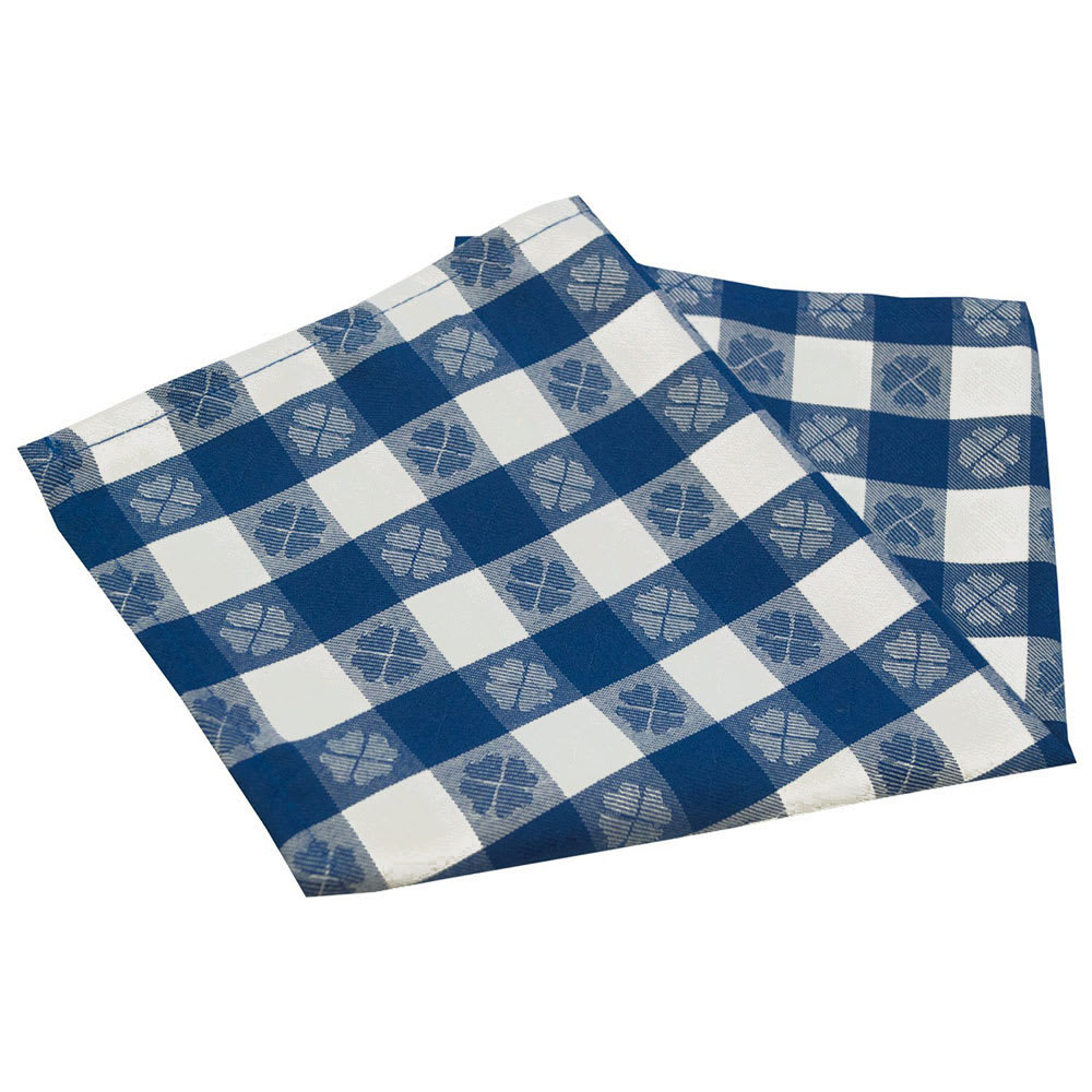 "Snap Drape NAPVCH1717OF 17"" Overlocked Visa Checkpoint Napkin - Polyester, Blue & White"