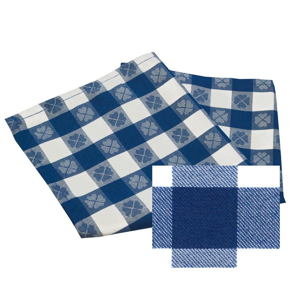 "Snap Drape NAPVCH1717OPL 17"" Overlocked Visa Checkpoint Napkin - Polyester, Blue & White"