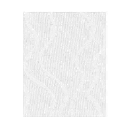 "Snap Drape NAPWAV2020OWH Wave 20"" x 20"" Overlocked Napkin w/ Damask Pattern, White"