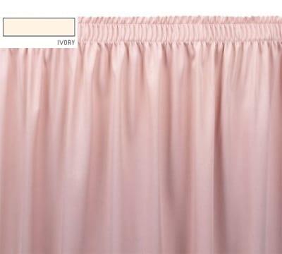 Snap Drape OMN1V1329 IVRY Omni 13-ft Table Skirt w/ Shirred Pleat, Velcro Attachment, Ivory