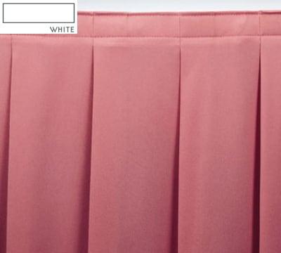 Snap Drape OMN2S21629 WHT Omni 21.5-ft Table Skirt w/ Accordion Pleat, Snap Attachment, White