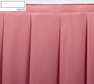 Snap Drape OMN2V1329 WHT Omni 13-ft Table Skirt, Accordion Pleat, Velcro Attachment, White