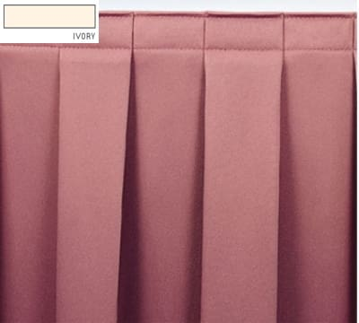 Snap Drape OMN3V17629 IVRY Omni 17.5-ft Table Skirt w/ Boxed Pleat, Velcro Attachment, Ivory