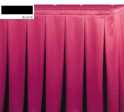 Snap Drape OMN5S1329 BLK Omni 13-ft Table Skirt, Continuous Pleat, Snap Attachment, Black