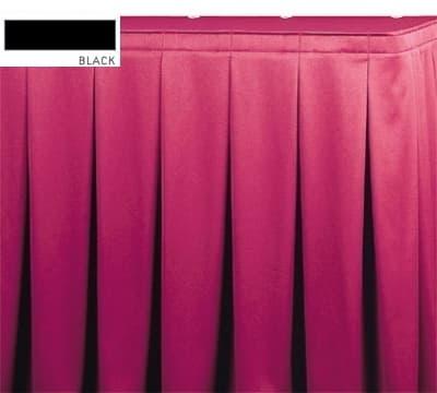 Snap Drape OMN5V17629 BLK Omni 17.5-ft Table Skirt, Continuous Pleat, Velcro Attachment, Black