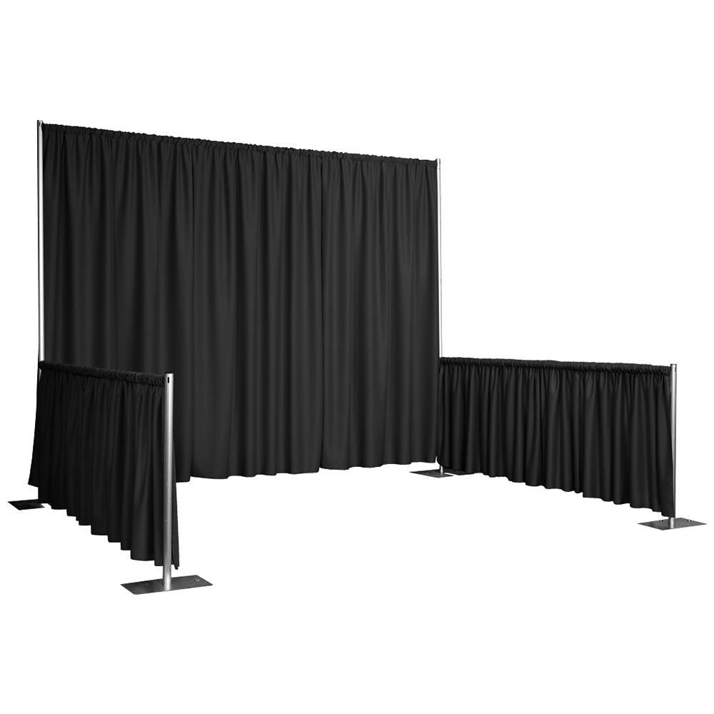 "Snap Drape RPBDMAR60119 BLK 119"" Marquis Backdrop w/ 4.5"" Top Rod Pockets, Black"
