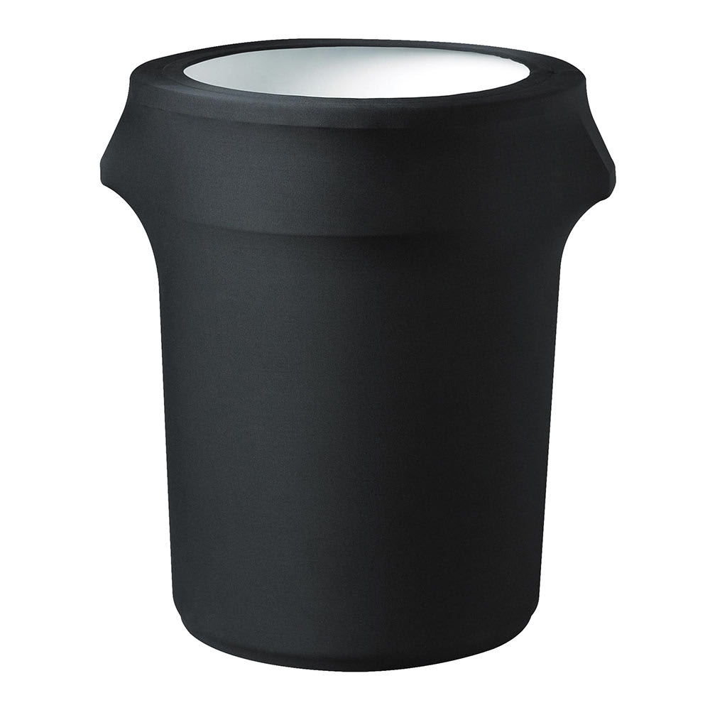 Snap Drape TCCCC44 BLK Black, Round Fitted Trash Can Cover, 44-gal