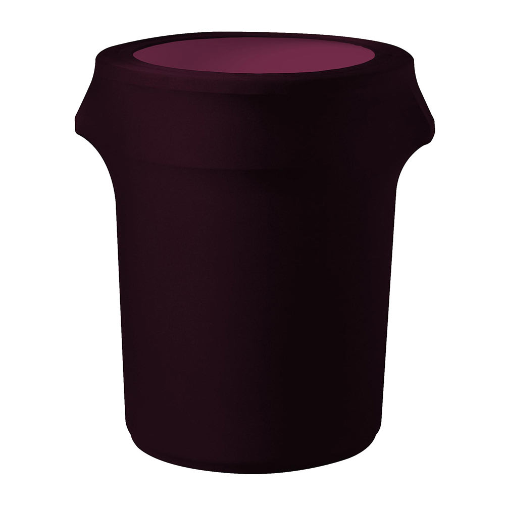 Snap Drape TCCCC44 BUR Burgundy, Round Fitted Trash Can Cover, 44 gal