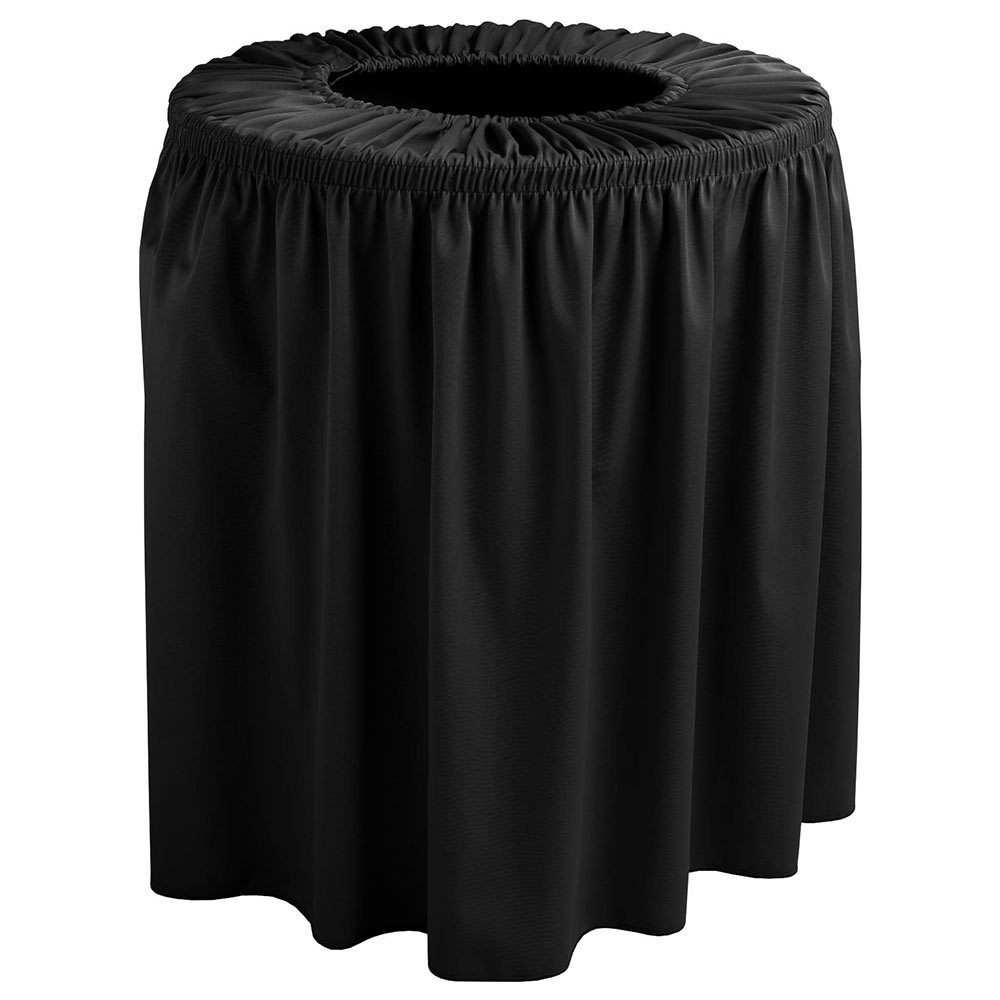 Snap Drape TCCWYN44 BLK Black, Round Drape Trash Can Cover, 44 gal