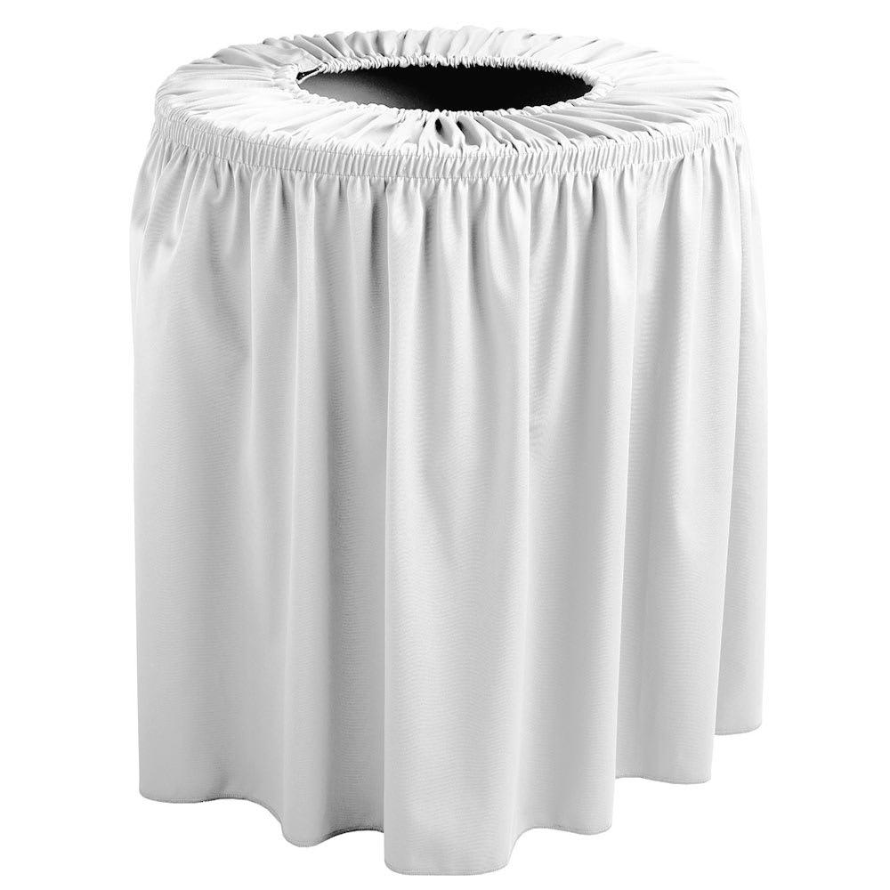 Snap Drape TCCWYN44 WHT White, Round Drape Trash Can Cover, 44-gal