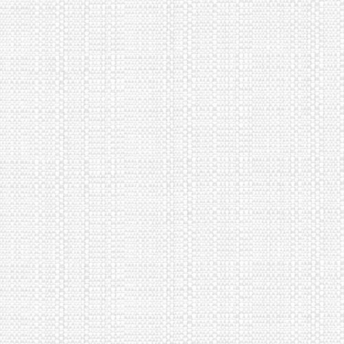 "Snap Drape TCL44445WHT 44"" Square Classic Linen Hemmed Tablecloth - Polyester, White"