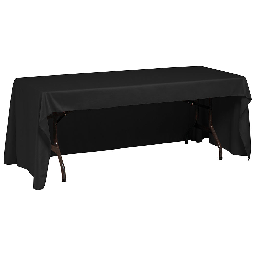 "Snap Drape TCOMN618CC BLK Omni Conference-Cut Throw Table Cover, 6-ft x 18"", Black"