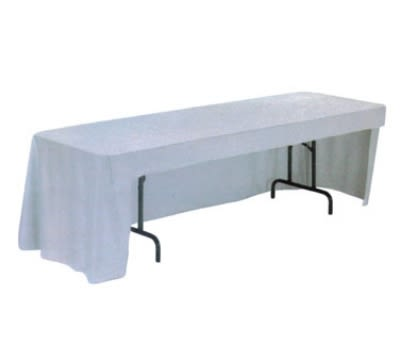 """Snap Drape TCOMN818CC IVRY Omni Conference-Cut Throw Table Cover, 8-ft x 18"""", Ivory"""