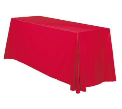 Snap Drape TCSAV12886 WHT 6-ft Savoy Throw Table Cover w/ Radius Corners, White