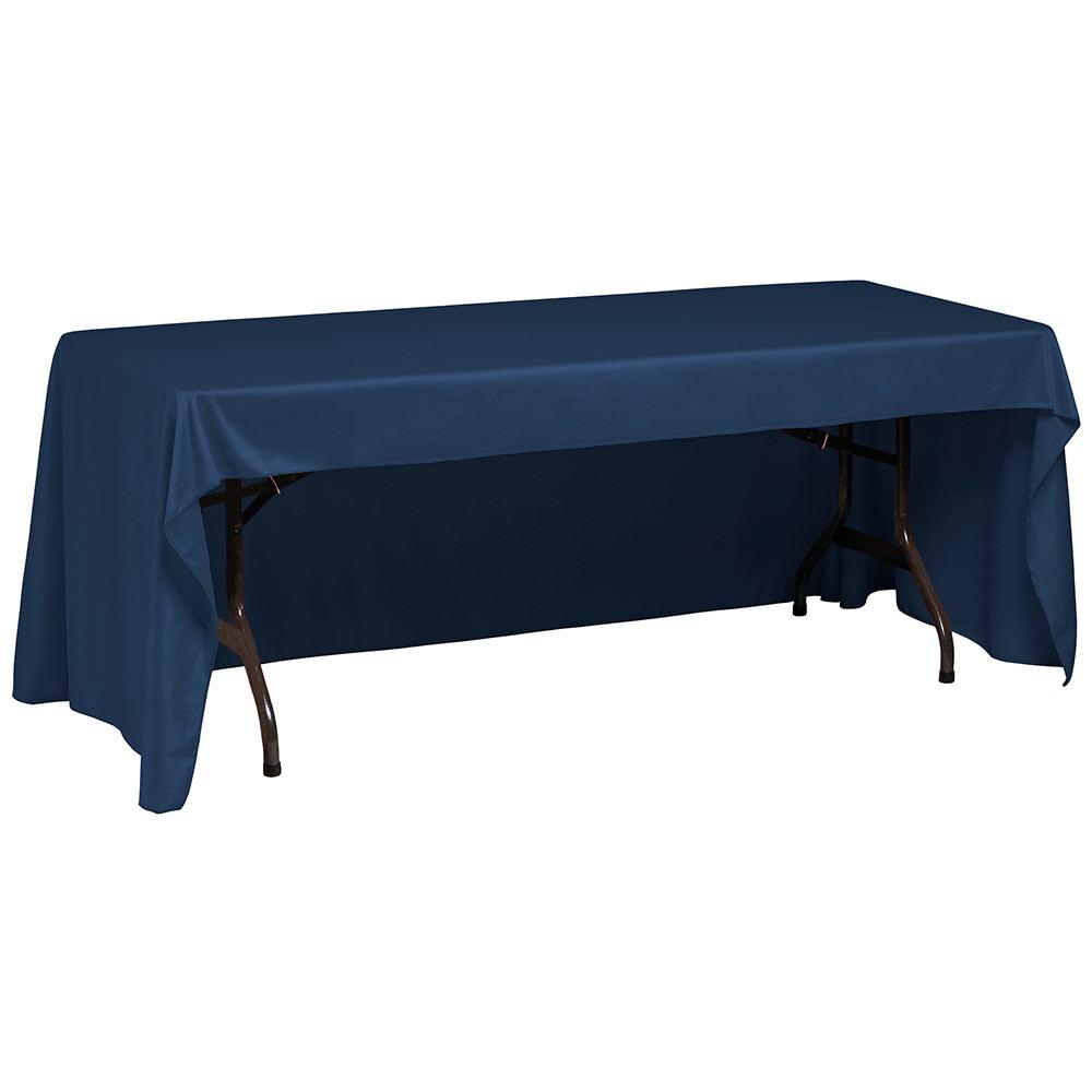 """Snap Drape TCWYN630CC DKBLU Wyndham Conference-Cut Throw Table Cover, 6 ft x 30"""", Dark Blue"""