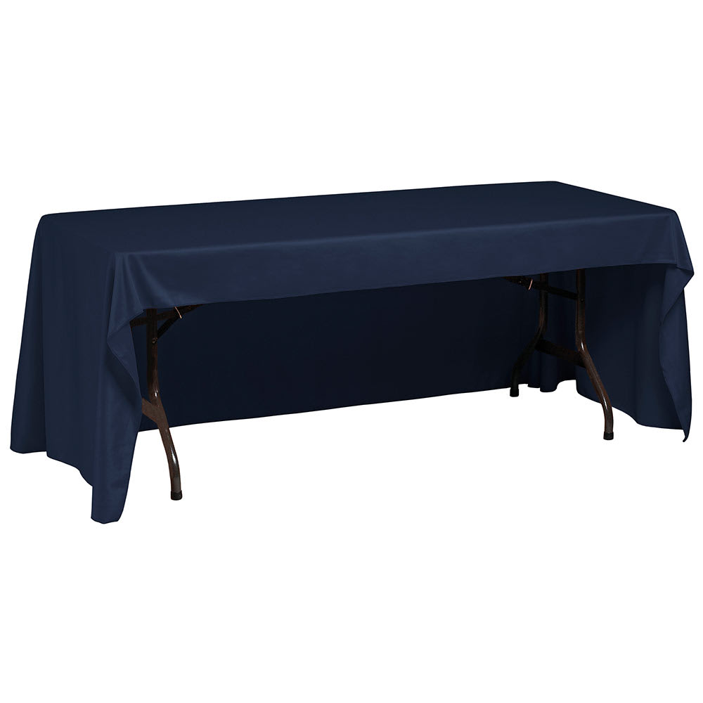 "Snap Drape TCWYN630CC NVY Wyndham Conference-Cut Throw Table Cover, 6 ft x 30"", Navy"