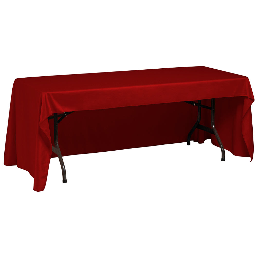 "Snap Drape TCWYN630CC RED Wyndham Conference-Cut Throw Table Cover, 6 ft x 30"", Red"